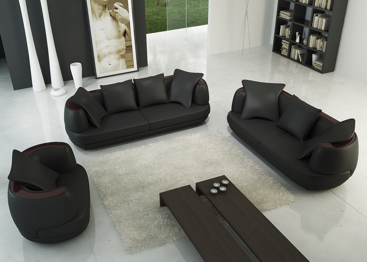 Canap cuir 3 2 royal sofa - Ensemble canape 3 2 pas cher ...