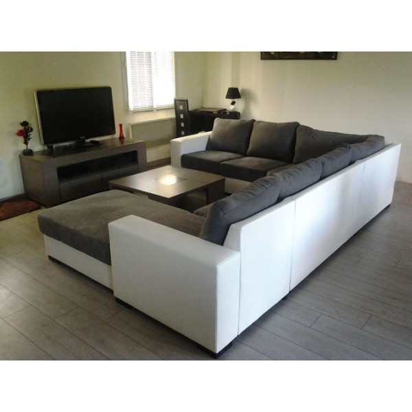canap d angle gris et blanc royal sofa id e de canap et meuble maison. Black Bedroom Furniture Sets. Home Design Ideas