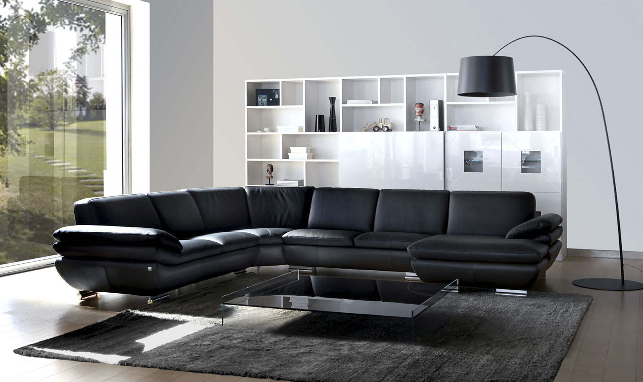 salon d angle en cuir pas cher royal sofa id e de. Black Bedroom Furniture Sets. Home Design Ideas