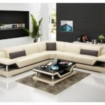 Canape beige cuir