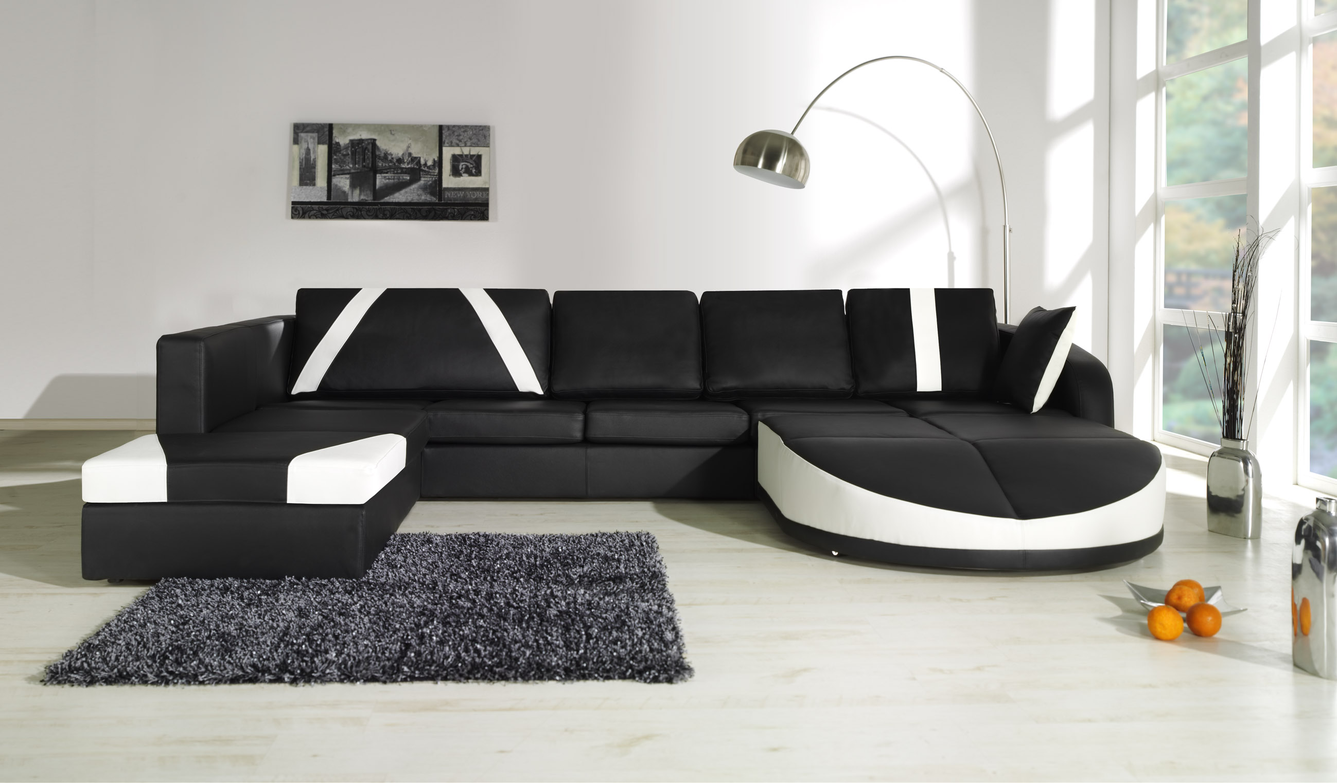 Canap d angle en cuir design royal sofa id e de for Salon cuir pas cher