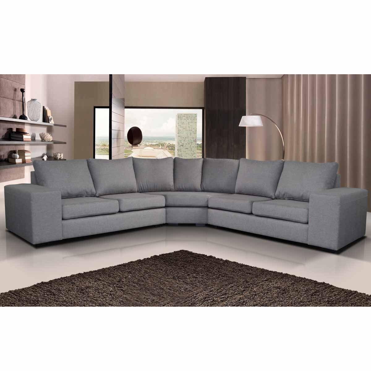 canape angle gris tissu royal sofa id e de canap et. Black Bedroom Furniture Sets. Home Design Ideas