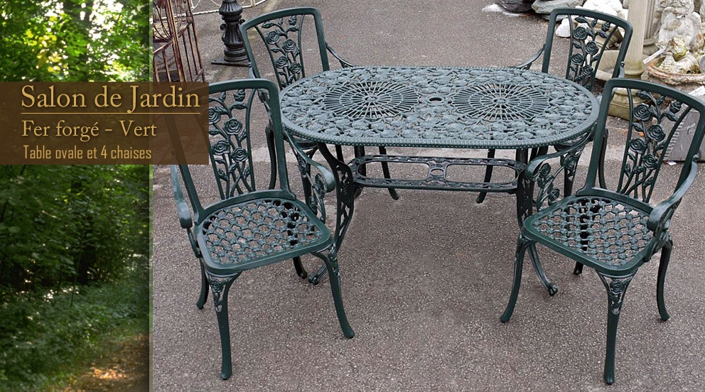 121 table de jardin en fer forge pas cher chaise de - Table jardin fer forge occasion ...