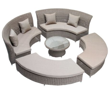 Salon jardin exterieur royal sofa id e de canap et for Mobilier salon pas cher