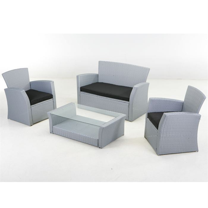 Salon de jardin resine tressee pas cher royal sofa for Salon resine tressee solde