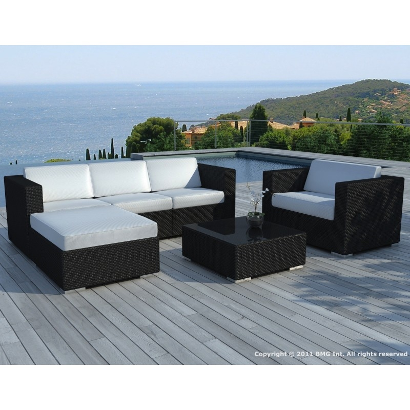 Royal sofa for Salon de jardin pas cher tresse