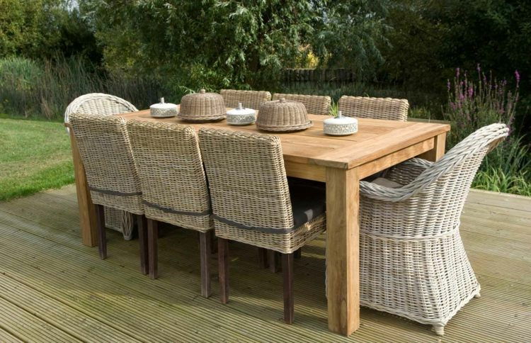 Beautiful Table De Jardin En Teck Massif Images - House ...