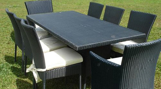 table jardin resine tressee - royal sofa