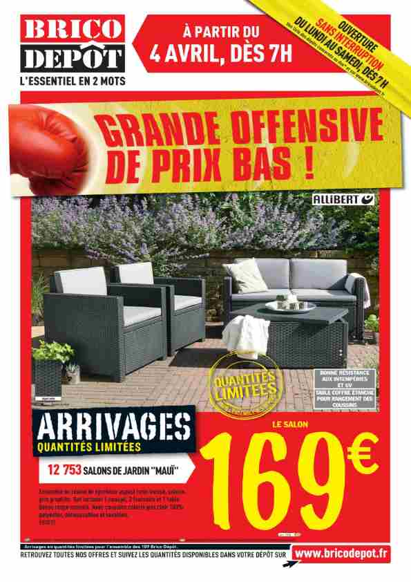 salon de jardin brico depot royal sofa id e de canap. Black Bedroom Furniture Sets. Home Design Ideas