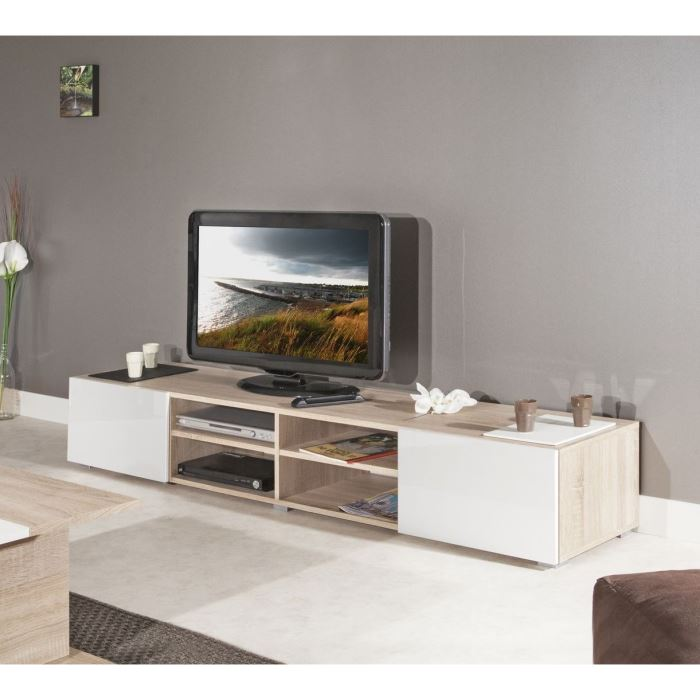 meuble tv blanc et beige royal sofa id e de canap et meuble maison. Black Bedroom Furniture Sets. Home Design Ideas