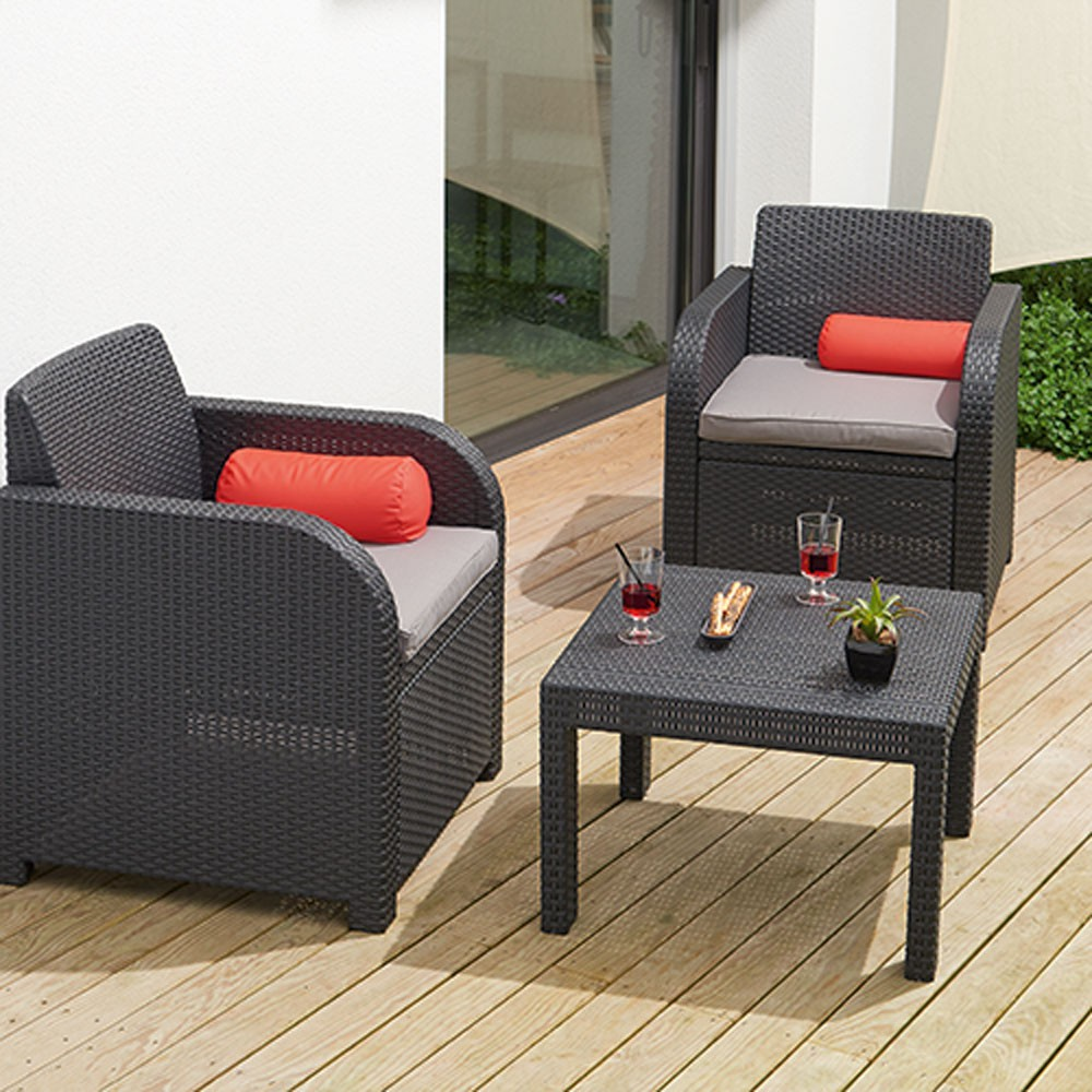 Salon de jardin 2 personnes resine royal sofa id e de for Salon de jardin gifi