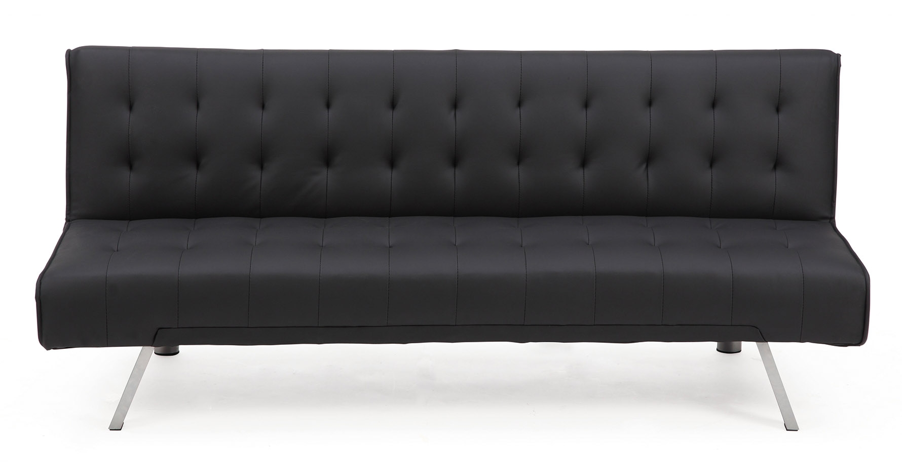 banquette clic clac noir capitonn design royal sofa. Black Bedroom Furniture Sets. Home Design Ideas