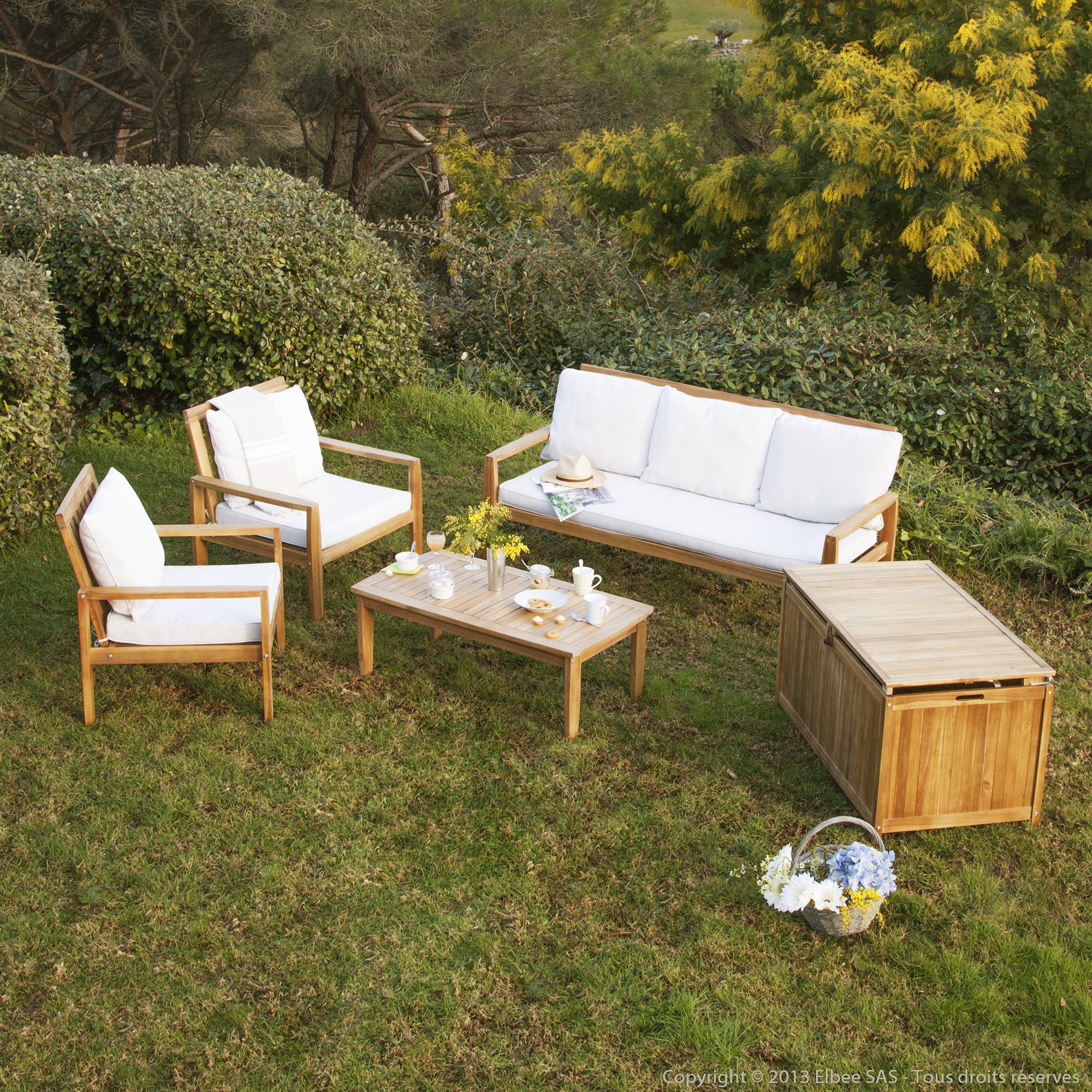 Beautiful Salon De Jardin Acacia Massif Contemporary - Amazing ...