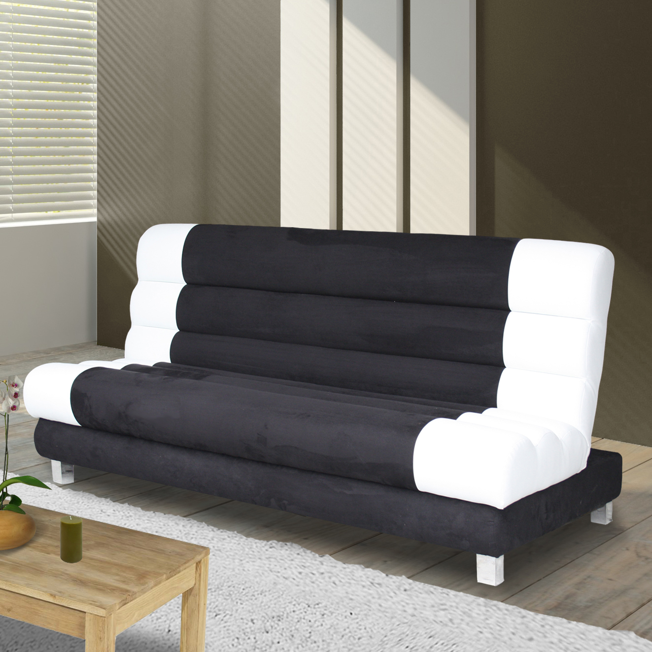 Housse canap clic clac noir royal sofa id e de canap for Housse clic clac fly