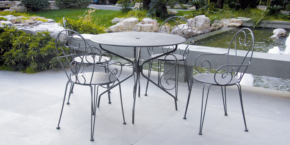 Awesome Table Jardin Metal Blanche Images - Amazing House Design ...