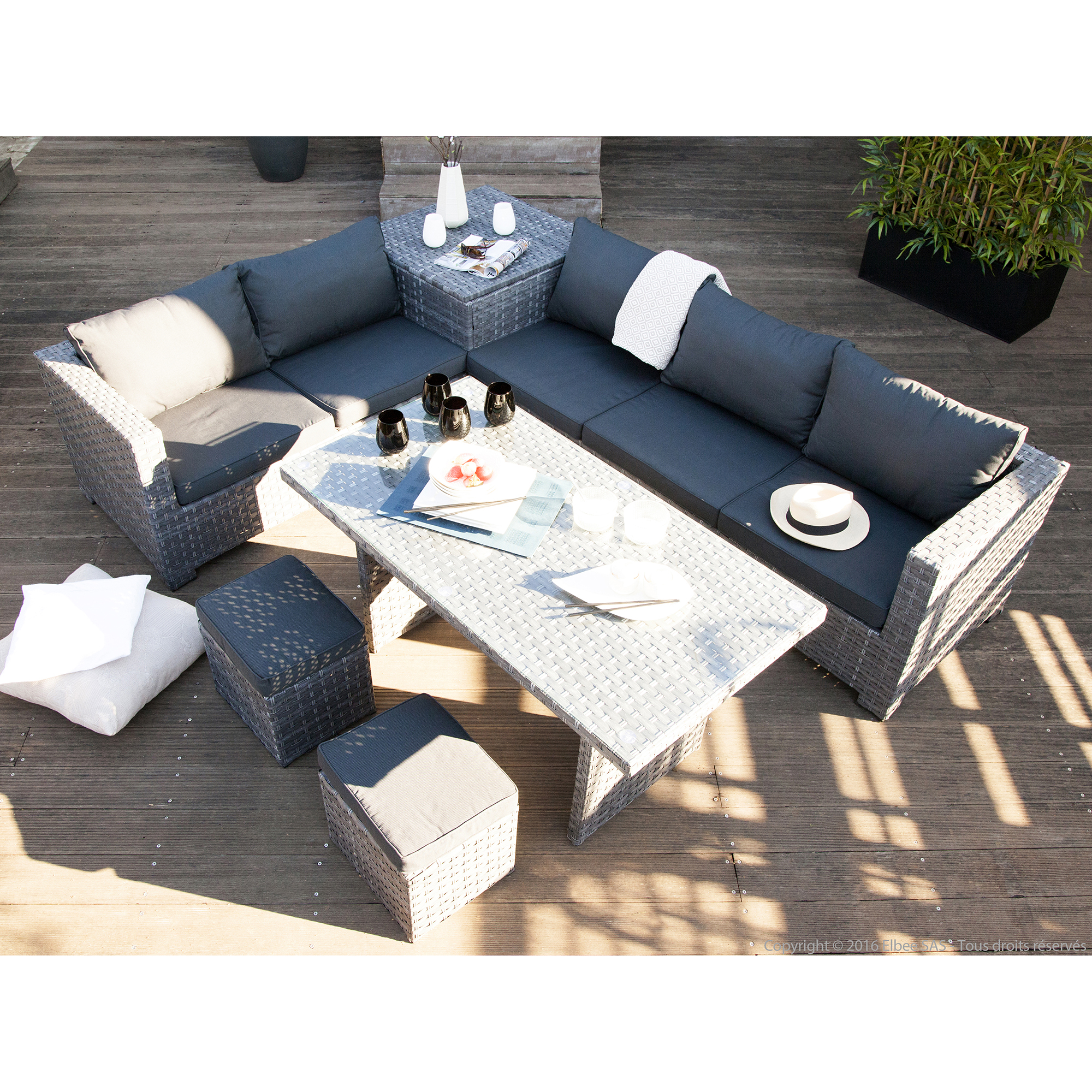 Salon de jardin table | Domino panda