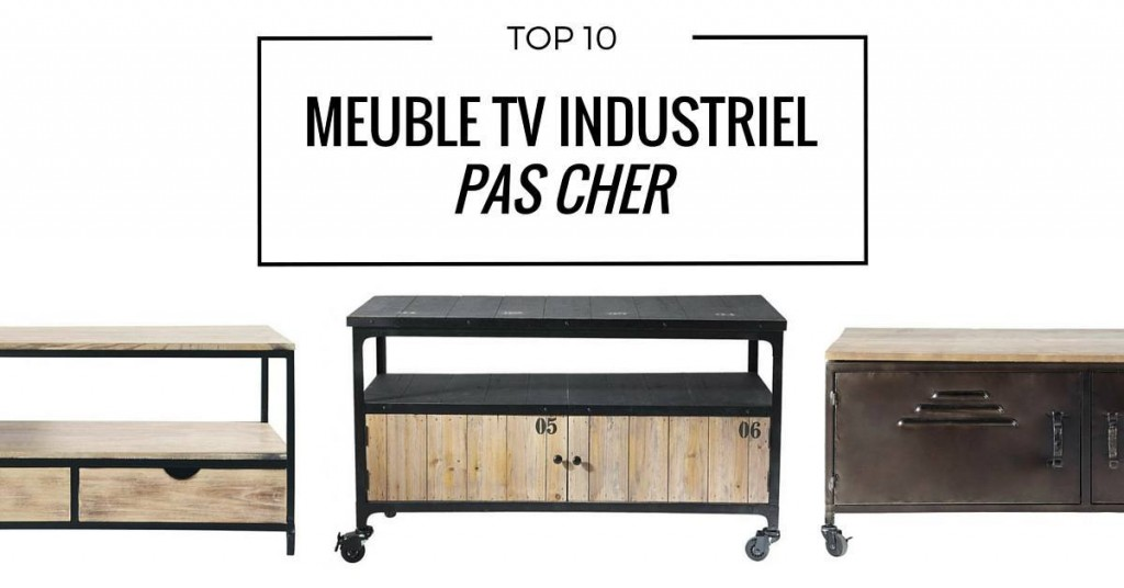 meuble tv industriel royal sofa id e de canap et. Black Bedroom Furniture Sets. Home Design Ideas