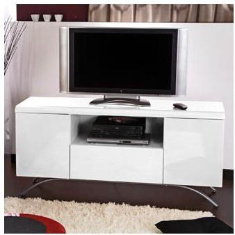 meuble tv 100 cm blanc laqu royal sofa id e de canap et meuble maison. Black Bedroom Furniture Sets. Home Design Ideas