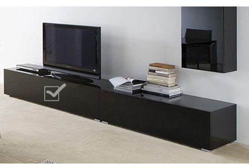 meuble tv noir laqu royal sofa id e de canap et meuble maison. Black Bedroom Furniture Sets. Home Design Ideas