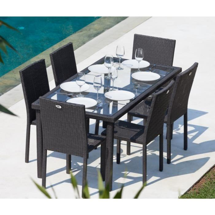 Ensemble table de jardin royal sofa id e de canap et for Table 6 places