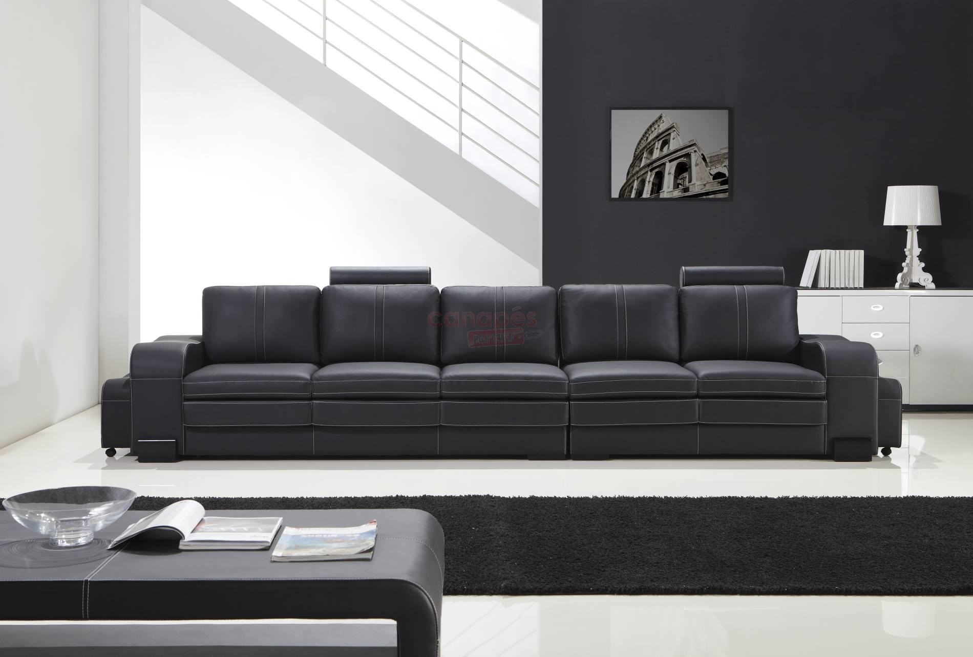 Canap 5 places convertible pas cher royal sofa id e - Meuble dos de canape ...