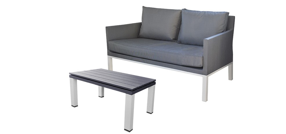 Canap de jardin 2 places royal sofa id e de canap et for Table exterieur 2 places