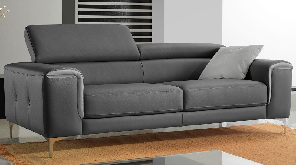 Canap 3 places convertible gris royal sofa id e de - Canape gris pas cher ...