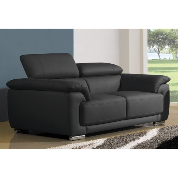 Canap convertible 2 places cuir royal sofa id e de for Sofa lit cuir