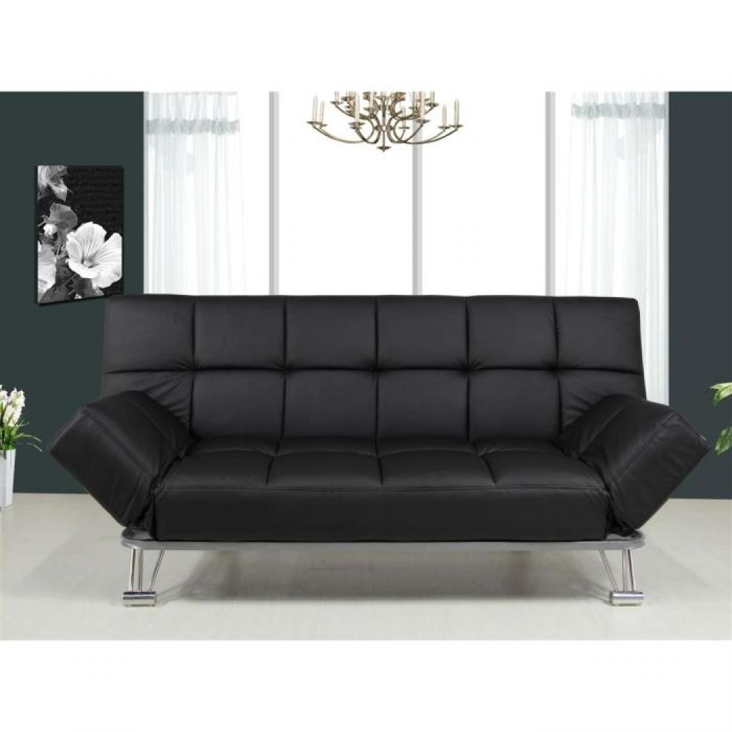 canap clic clac simili cuir royal sofa id e de canap. Black Bedroom Furniture Sets. Home Design Ideas