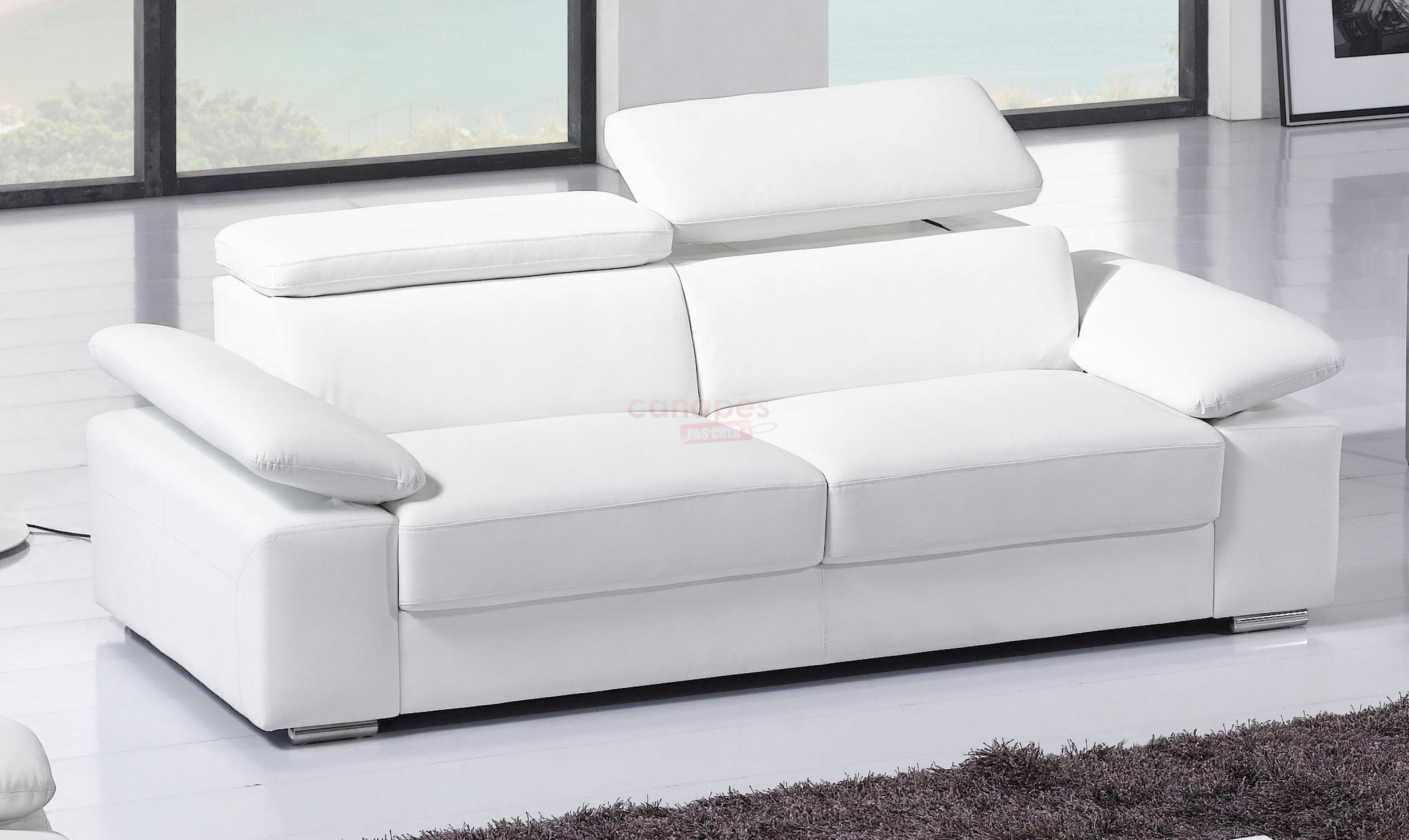 Canap convertible 4 places cuir royal sofa id e de for Sofa lit cuir