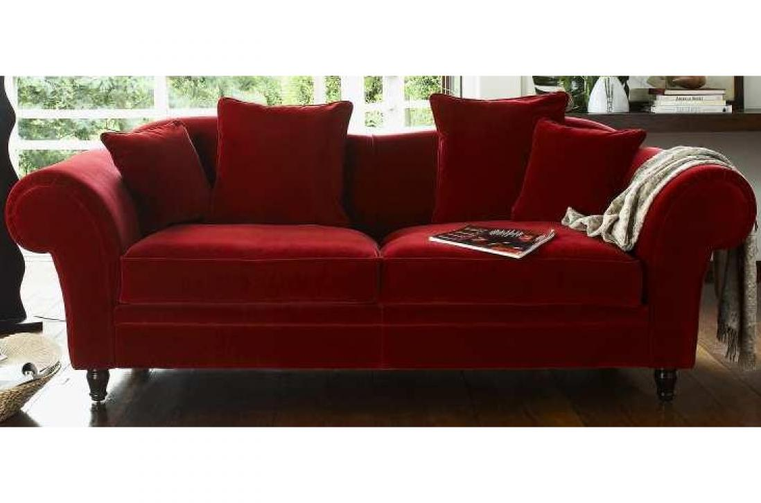 canap convertible velours rouge royal sofa id e de. Black Bedroom Furniture Sets. Home Design Ideas