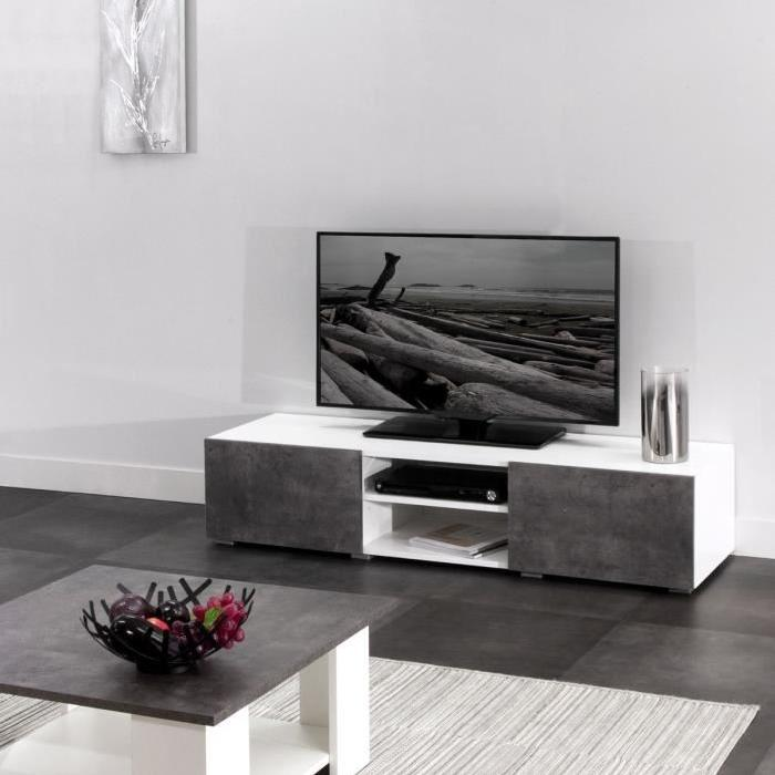 meuble tv gris beton royal sofa id e de canap et meuble maison. Black Bedroom Furniture Sets. Home Design Ideas
