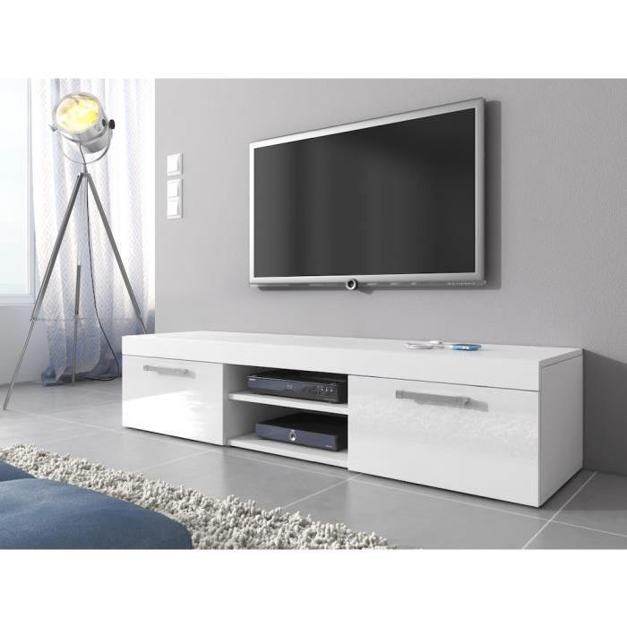 meuble tv 160 cm blanc royal sofa id e de canap et meuble maison. Black Bedroom Furniture Sets. Home Design Ideas