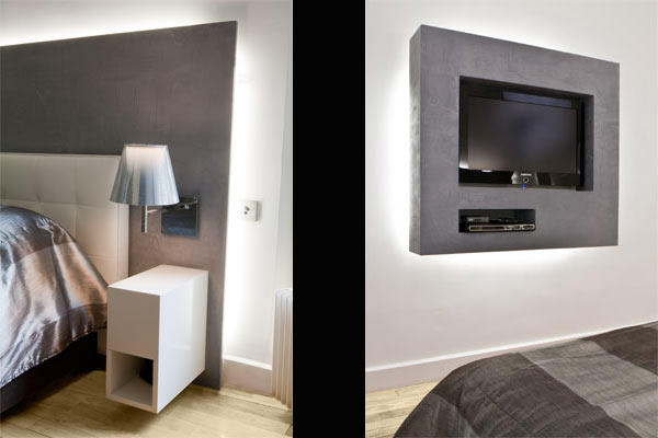awesome meuble tv pour chambre chambre meuble tv with kreabel meuble tv. Black Bedroom Furniture Sets. Home Design Ideas