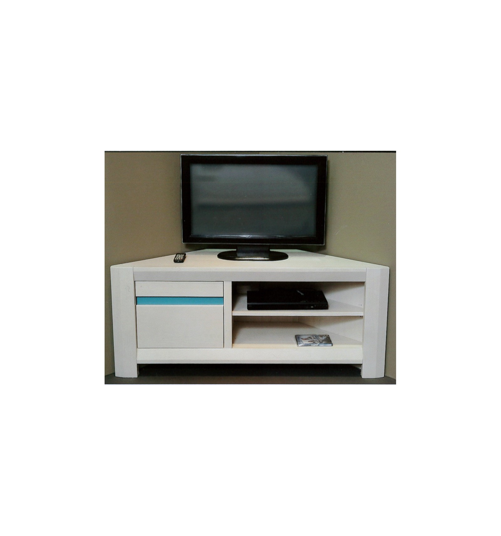Meuble Tv D Angle Blanc Sellingstg Com # Pose Tele En Bois