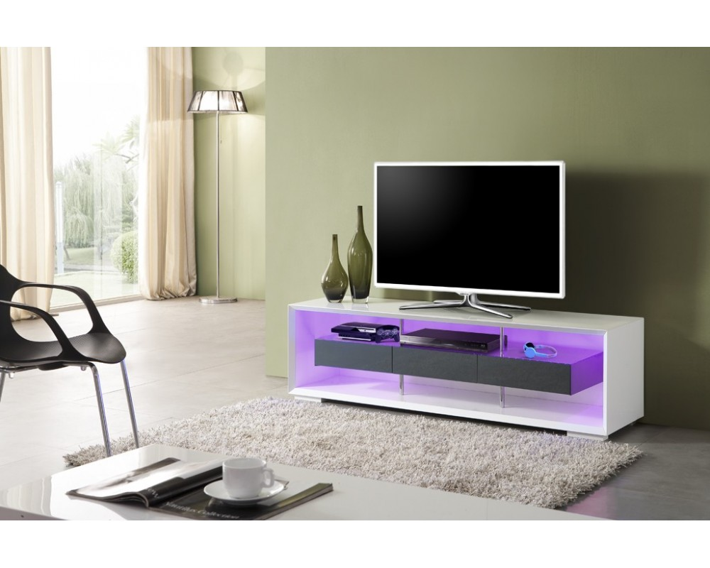 Meuble Tele Design Blanc Royal Sofa Id E De Canap Et Meuble  # Meuble Tv Led Cdiscount