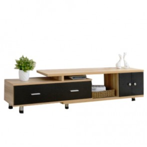 meuble tv noir bois royal sofa id e de canap et. Black Bedroom Furniture Sets. Home Design Ideas