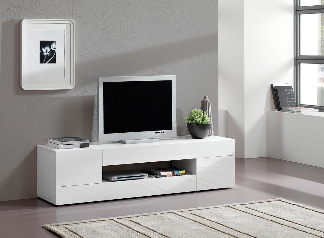 Meuble Tv Blanc Laqu Suspendu Urbantrott Com # Ensemble Meuble Tv Table Basse Design