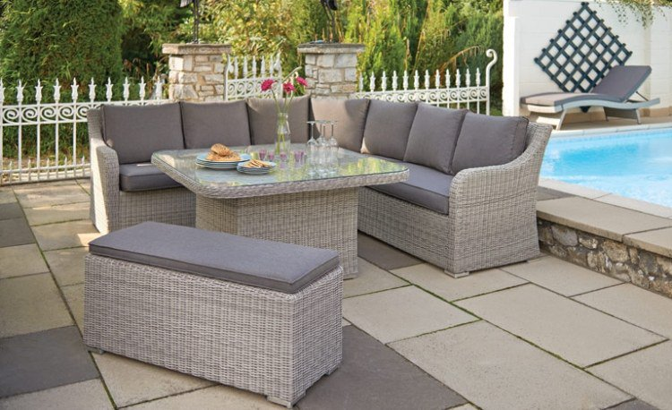 Salon de jardin table haute royal sofa id e de canap for Table de jardin exterieur pas cher