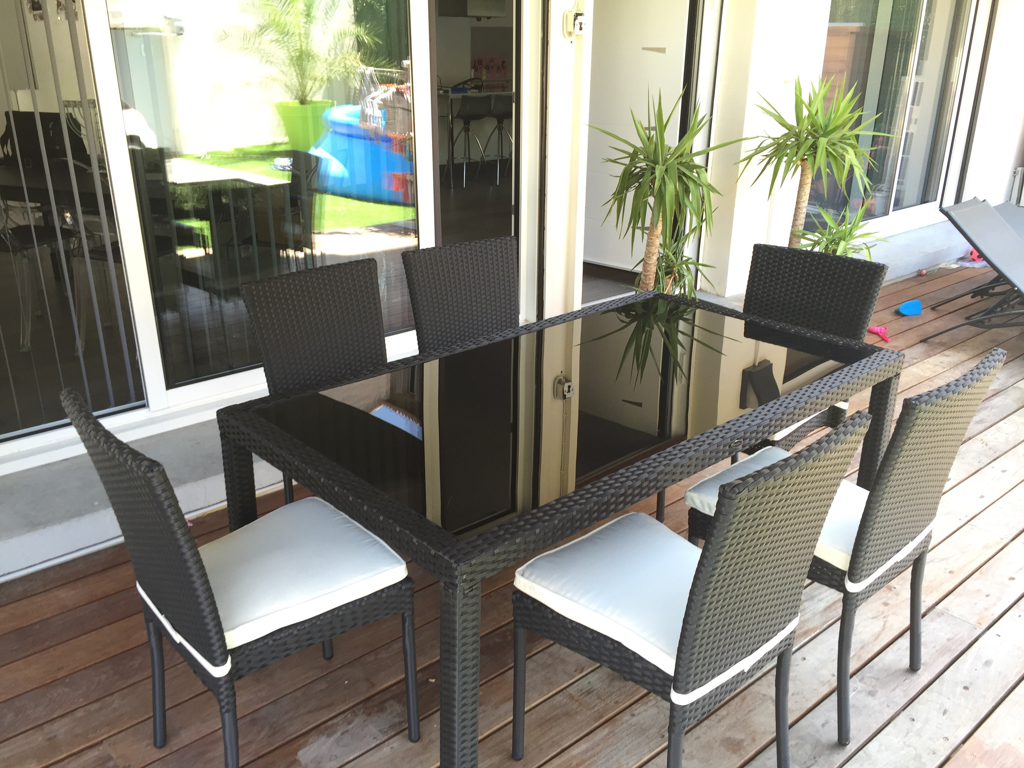 Exceptional Table Et Chaise De Jardin En Resine 10 Table Verre 8 Personnes Remc Homes