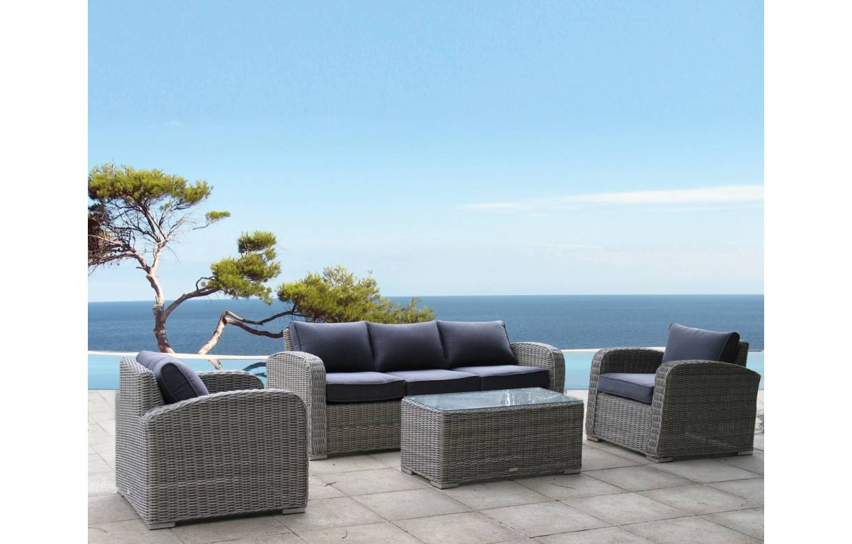 Salon de jardin bas 5 places royal sofa for Salon 9 places tunisie