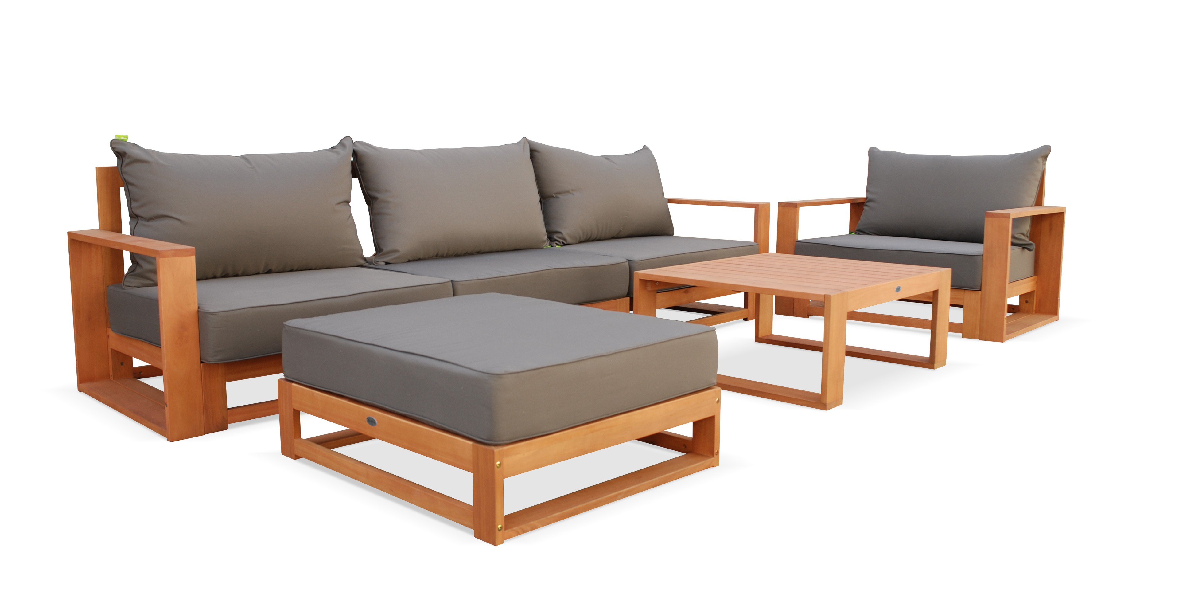 Beautiful salon de jardin bois canape contemporary for Canape poltrone et sofa