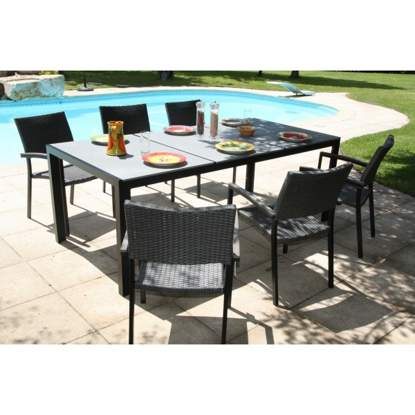 Ensemble table jardin pas cher royal sofa id e de for Canape de jardin solde