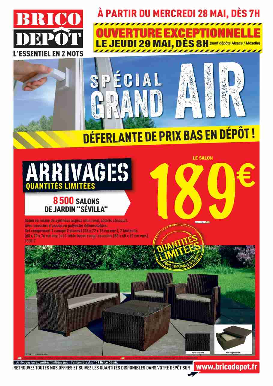 Salon de jardin brico depot royal sofa id e de canap for Brico bati jardin leclerc