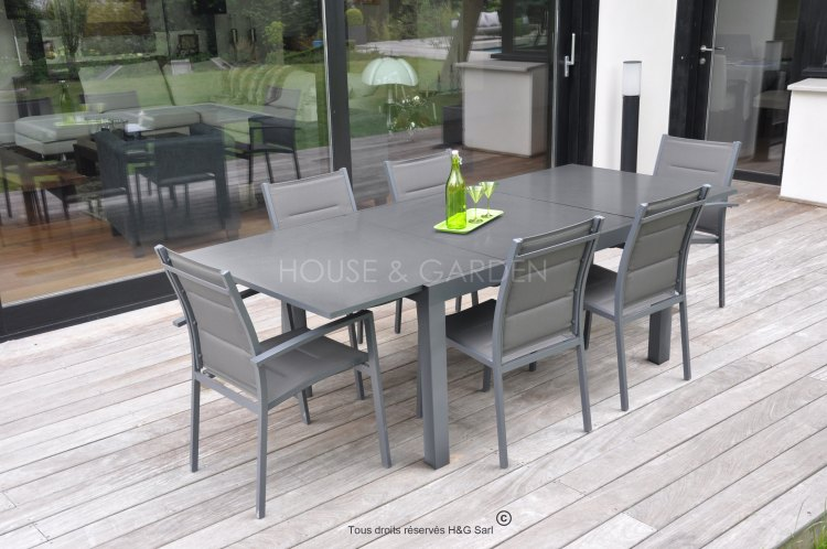 table de jardin aluminium royal sofa id e de canap et meuble maison. Black Bedroom Furniture Sets. Home Design Ideas