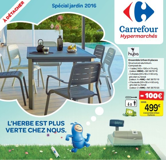 table et chaise de jardin carrefour chaise longue for meuble de ...