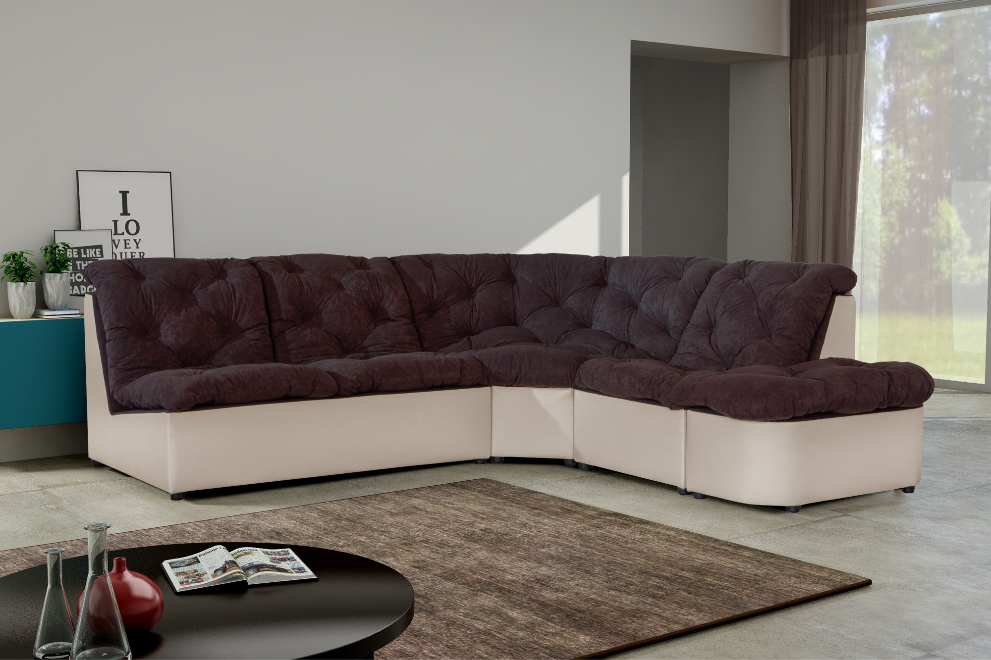 Canap d angle chocolat royal sofa id e de canap et for Monsieur meuble canape d angle