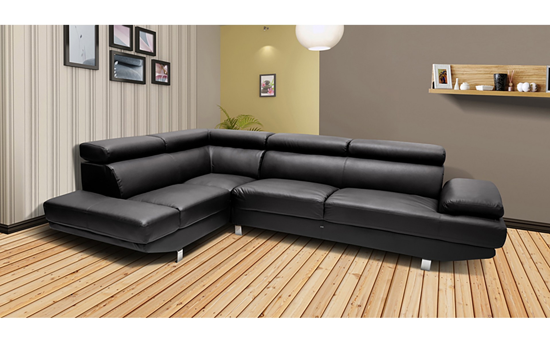 canap d angle gauche cuir royal sofa id e de canap et meuble maison. Black Bedroom Furniture Sets. Home Design Ideas