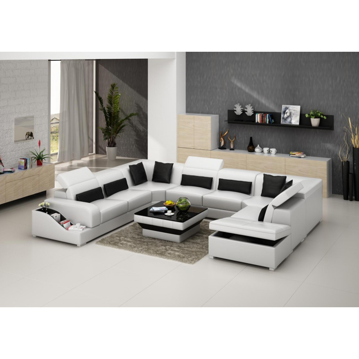 Canape d angle 6 8 places royal sofa id e de canap et for Monsieur meuble canape d angle cuir