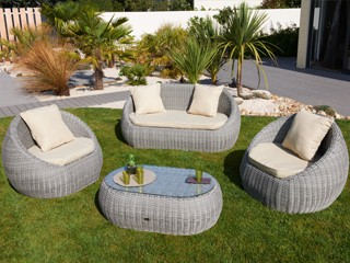 Table de jardin en r sine tress e pas cher royal sofa for Table jardin resine pas cher
